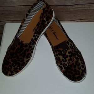 Leopard slip on shoes